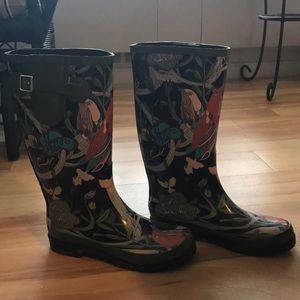 Patterned Rainboots
